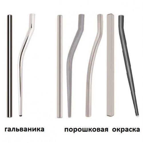 Формы металлических ножек для столов