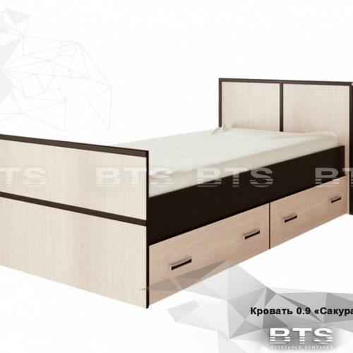 """""""Сакура"""" кровать 0,9м"""