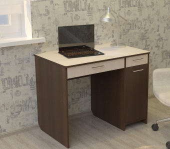 Стол комбинированный Дебют-3 (венге+дуб девонширский)