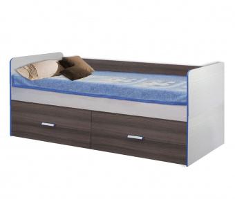 Кровать высокая Скейт 5 800х1900 (бодега св.+дуб солсебери)