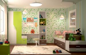 "Набор мебели в детскую ""Скейт-5"" (Лайм)"