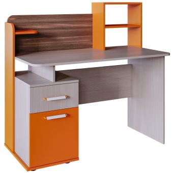 Стол письменный с надстройкой Скейт 5 (бодега св.+манго)
