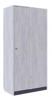 Шкаф угловой Крафт (дуб крафт+серый графит)
