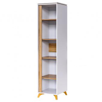 Шкаф 1- дверный Сканди (белый снег+орех лион)