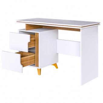 Стол письменный Сканди (белый снег+орех лион)