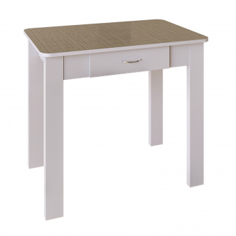 Стол обеденный с ящиком №3 (пл. Шотландка день)