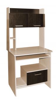 Стол компьютерный СКД-2 (дуб девонширский+венге)