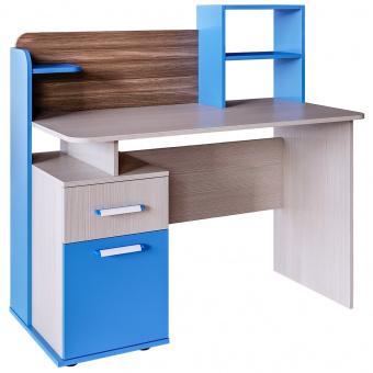 Стол письменный с надстройкой Скейт 5 (бодега св.+синий)