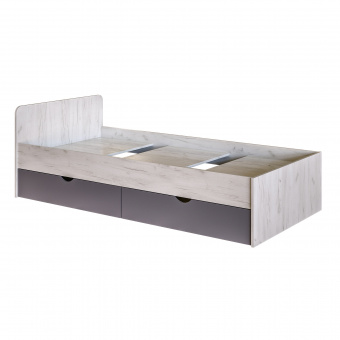 Кровать 900х1900 Крафт c настилом (дуб крафт белый)