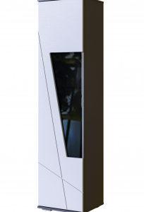 Шкаф-витрина Лея (серый графит)