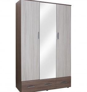 Шкаф 3х-дв с ящиками Колибри 1(ясень шимо тем+ясень шимо св)