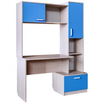 Стол письменный Скейт 5 высокий (бодега св.+синий)