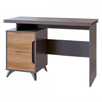 Стол письменный Сканди (серый графит+орех лион)
