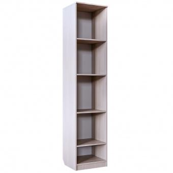Шкаф 1-дверный с полками Скейт 5 (бодега св.+синий)