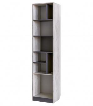 Шкаф открытый Крафт (дуб крафт белый+серый графит)