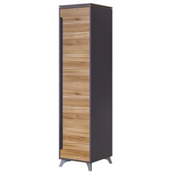 Шкаф 1- дверный Сканди (серый графит+орех лион)