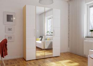 Шкаф для одежды 4-х дв София (Белый)