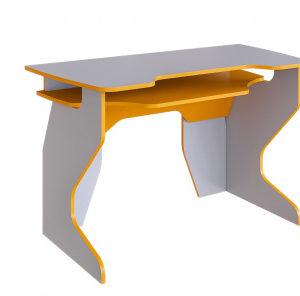 Стол компьютерный Стрим-2 (стальной серый+манго)