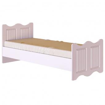 Кровать 800х1900 Винтаж с настилом (белый)
