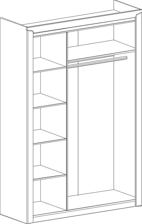 Шкаф 3 дв. «Соренто» дуб стирлинг с раздвижными дверями