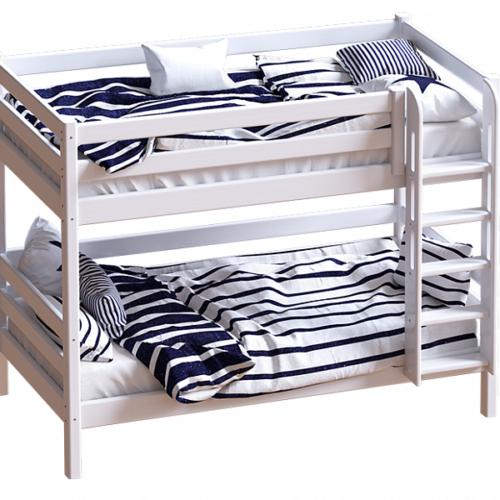 """Кровать """"Авалон"""" с прямой лестницей."""