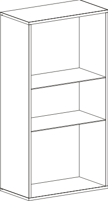 Шкаф-витрина «Кёльн» Белый Аляска/ Белый глянец