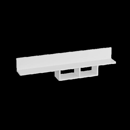 Полка «Кёльн» 1380 Белый Аляска/ Белый глянец