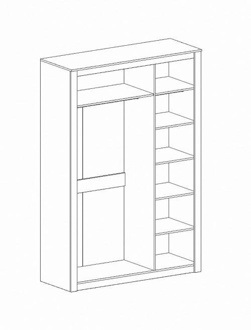 "Шкаф 3-дв спальня ""Даллас"""