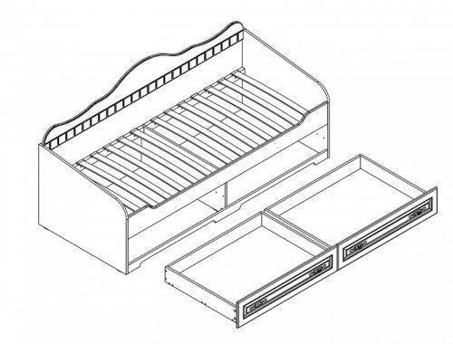 """""""Прованс"""" кровать с ящиками"""