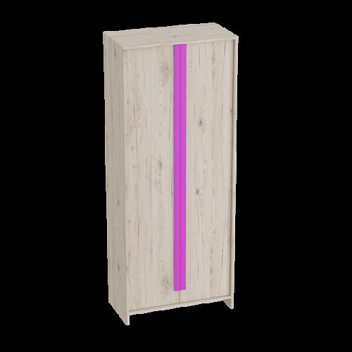 """Шкаф 2-дверный """"Скаут""""Фуксия"""