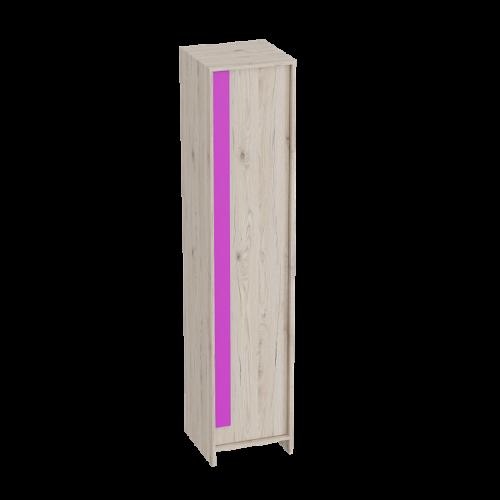 """Шкаф 1-дверный """"Скаут"""" Фуксия"""