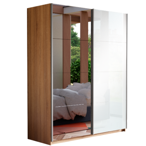 Прайм 2-х дверный (фасад стекло/зеркало)