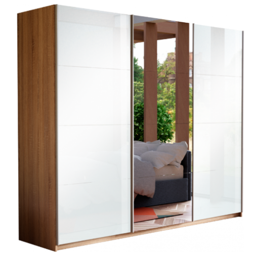 Прайм 3-х дверный (фасад 3-х стекло зеркало стекло)