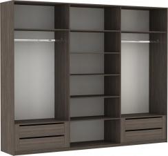 Эста 3-х дверный, 8 стекло белое, 4 зеркало